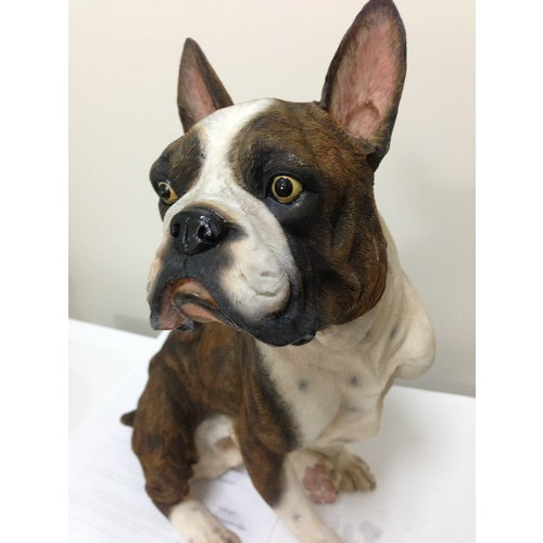 20cm Sitting Boxer Dog Statue Dogs Animals Products