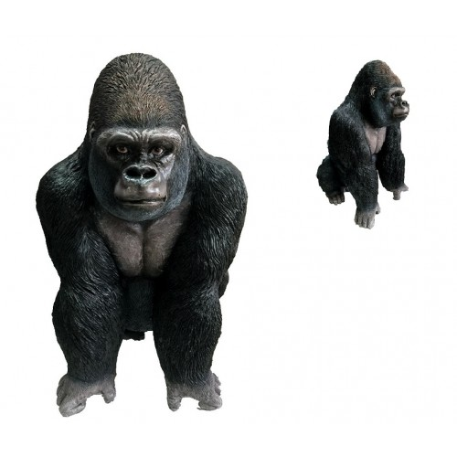 60cm silver back statues gorilla monkey animals statue figurine garden ornaments ebay - Gorilla figurines ...