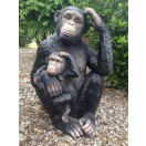 85cm Monkey With Baby Statue