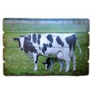 60cm Cow Wooden Wall Decor