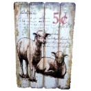 60cm Sheep Wooden Wall Decor