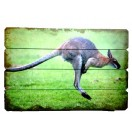 60cm Kangaroo Wooden Wall Decor
