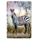 60cm Zebra Wooden Wall Decor