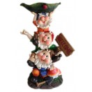 44cm Gnomes with Welcome Sign Bird Feeder