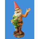 36cm Gnome Holding Frog