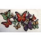 135cm Metal Flying Butterflies Wall Art
