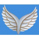 62cm Metal Angel Wing Wall Decor