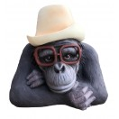 34cm Gorilla wearing Hat and Glass