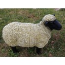 75cm Black Head Sheep Garden Statue