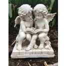 24cm Two Cherubs Reading Book