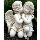 42cm Two Cherub Kissing