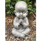 45cm Sitting Monk Grey