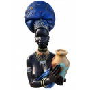 43cm African Holding Pot in Blue