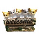 32cm Five Cats with Welcome