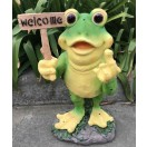 57cm Frog Rude Finger with Welcome