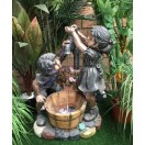 60cm Boy Girl Tap Water Feature Fountain