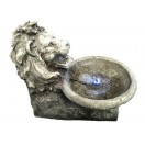 46cm Lion with Bowl Fountain