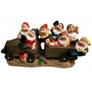 30cm Seven Gnomes on Cart