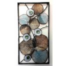 110cm Metal Abstract Wall Decor with Frame