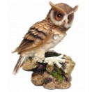 21cm Tall Owl Perching on Branch Statue