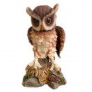 19cm Tall Owl Standing on Rock Figurine