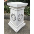 65cm Pedestal with Wreath