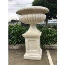 135cm White Urn with Padstel