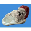 17cm Xmas Dog with Candle Holder