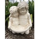 43cm Two Cherub with Welcome Bowl