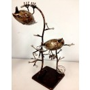 37cm Metal Bird Candle Holder